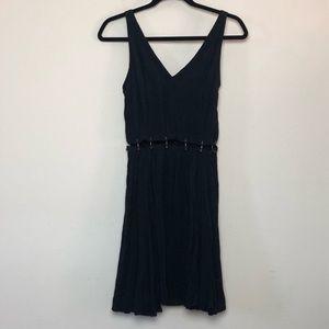 Top Shop Barbell Black Mini Dress Fit Flare Size 4